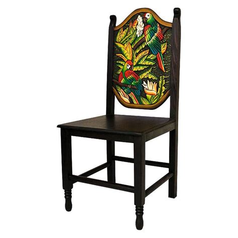 carved collection macaw chair cc190
