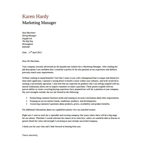 general cover letter templates  sample
