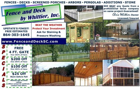 flyer   fence  deck  whittier
