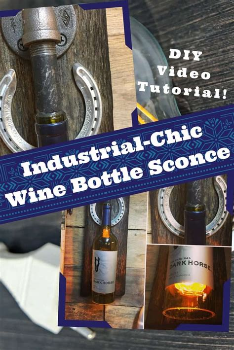 diy video tutorial upcycled wine bottle wall sconce