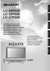 Sharp Lc 32 P 50 Tv   Television Download Manual For Free