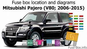 Fuse Box Location And Diagrams  Mitsubishi Pajero  V80  2006-2015
