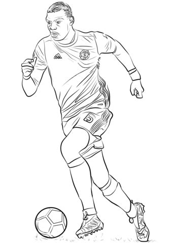 paul pogba coloring page  printable coloring pages