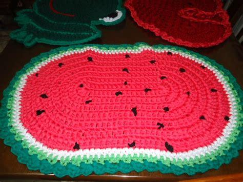 tapete melancia oval em fio malha artesanato em casa pinterest ems