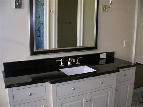 bathroom cabinets and countertops granite bathroom vanity in absolute black with polished