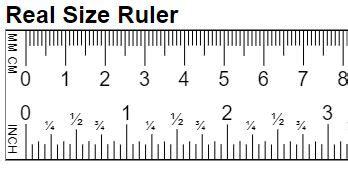 real size ruler mm cm
