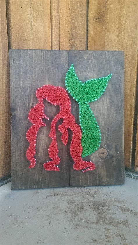 ariel   mermaids string art sign crafts