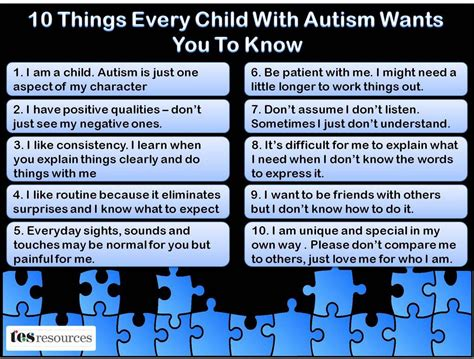 "Mike Marotta On Twitter ""10 Things Every Child With Autism Wants You To Know"