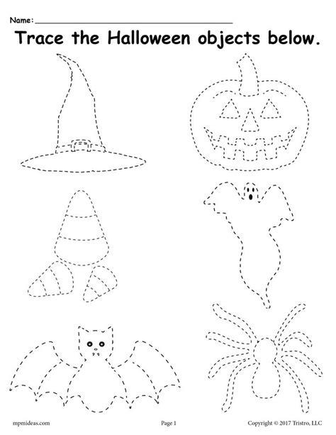 free printable halloween tracing worksheet supplyme