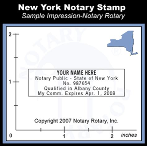 New York Notary Seal Stamp - Pre-inked