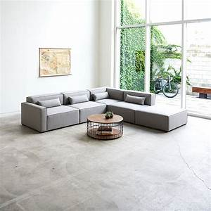gus modern mix modular 5 piece sectional eurway With 5 piece sectional sofa canada
