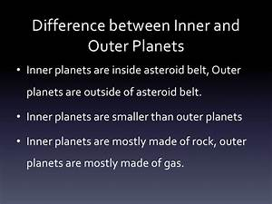 What Are the Differences Between Inner and Outer Planets - Pics about space