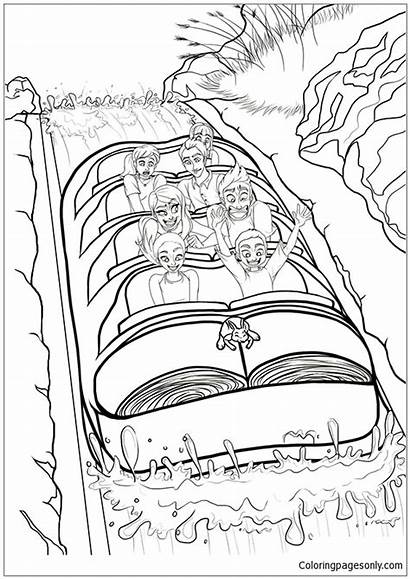 Splash Mountain Pages Coloring Space Template Coloringpagesonly