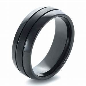 Men39s black tungsten ring 1372 for Black wedding ring men