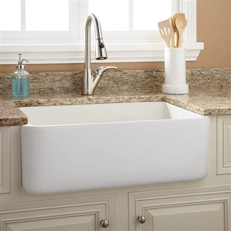 kitchen faucets for farmhouse sinks 30 quot durant reversible fireclay farmhouse sink smooth
