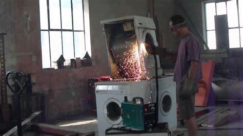 waschmaschine klappert beim schleudern teil 2 waschmaschine schikaniert beim schleudern mit plasmaschneider cut 40 zerlegt 7 2011