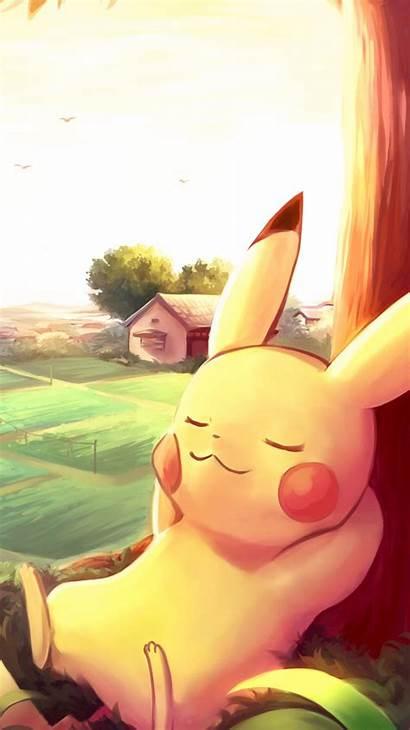 Pikachu Pokemon Iphone Pokeball Wallpapers Sleeping Backgrounds