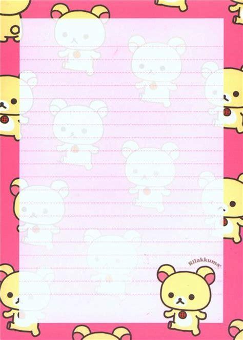 kawaii white rilakkuma bear big note pad letter paper