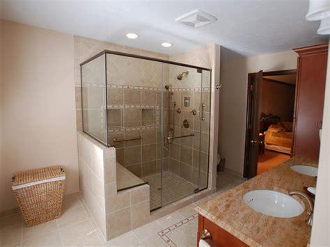bathroom shower bench shower pan  bench tile shower