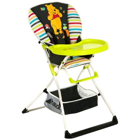chaise haute winnie disney chaise haute mac baby winnie noir motif multicolore