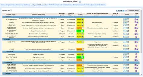 modèle document unique word le logiciel pour g 233 rer le document unique d evaluation des