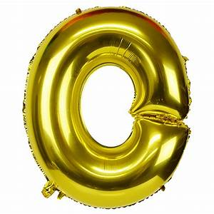 30quot foil mylar balloon gold letter o With where to get gold letter balloons