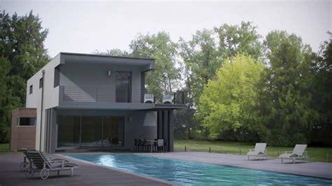 Petite Maison Contemporaine Plan 3d