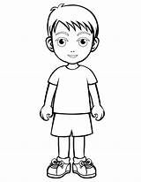 Coloring Boy Pages Children Print Boys sketch template