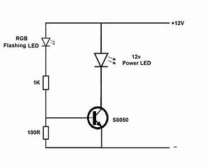 12v Power Led Flasher Circuit Using Rgb Flashing Led