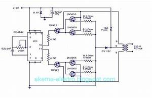 Mengubah Tegangan Dc 12 V Ke Ac 220 V Daya 100 Watt
