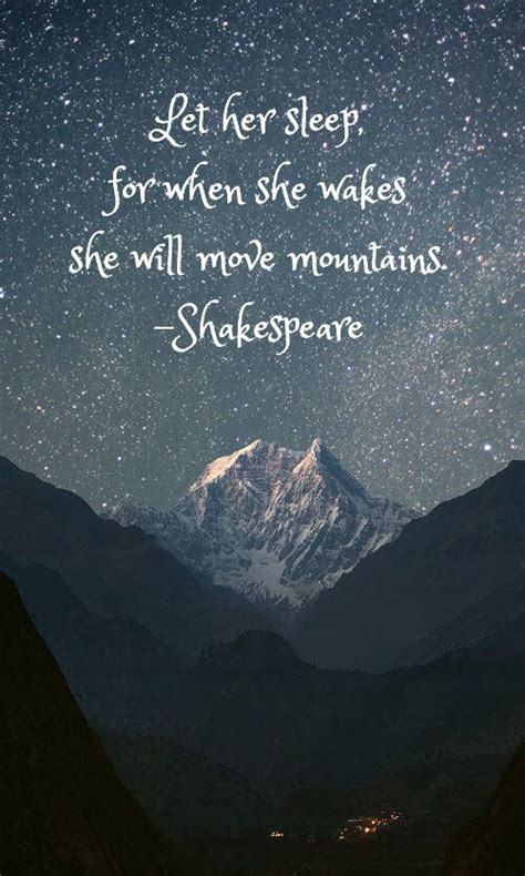 shakespeare move mountains nature night skies landscape