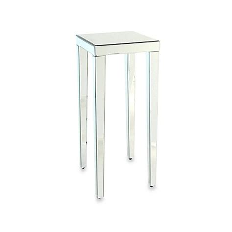 mirror pedestal stand beveled mirror pedestal stand side table bed bath beyond