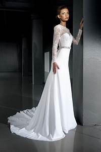 open back wedding dresslace wedding dress long sleeve With long lace wedding dress