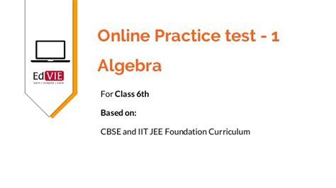 Cbse Class 6th Mathematics  Algebra Topic Free Practice Tests