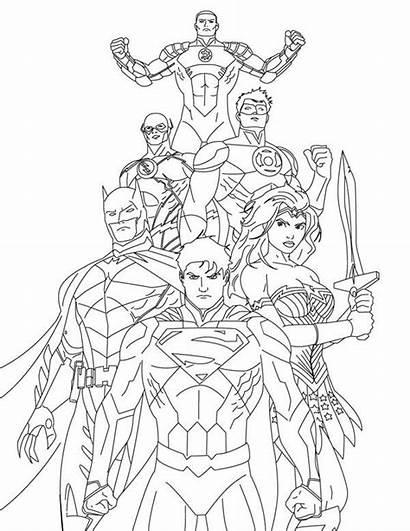 Pages Coloring Justice League Printable Superman Comic