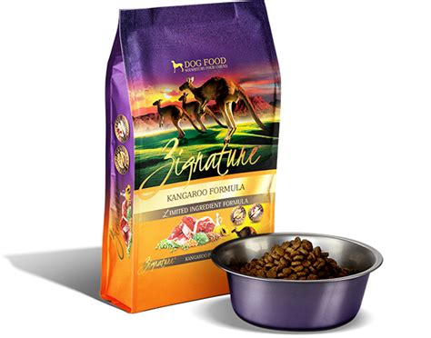 zignature kangaroo formula dry dog food