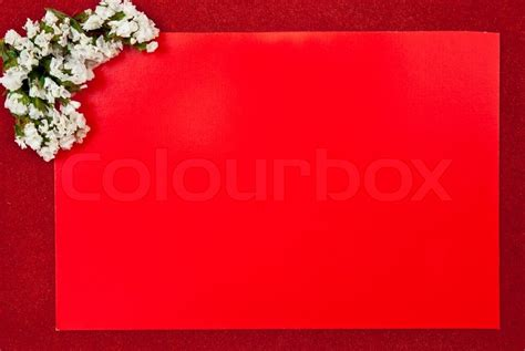 red greeting card  red background stock photo colourbox