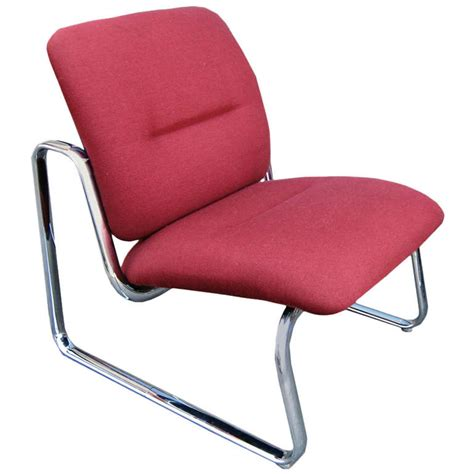Steelcase Upholstery by Steelcase Metal And Fabric Lounge Chair For Sale At