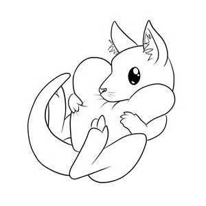 Cute Kangaroo Drawing