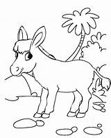 Donkey Coloring Happy Pages Funny Children Twelve sketch template