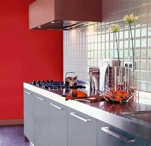 peinture grise pour cuisine rouge cuisine idees de With peinture rouge pour cuisine