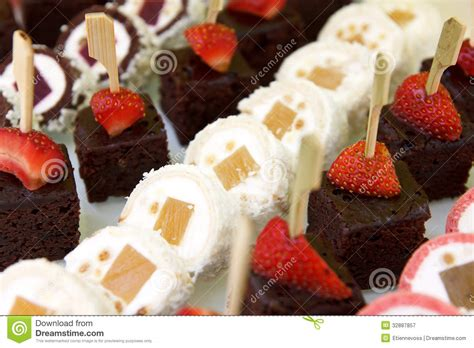 canape desserts mixed mini canapes royalty free stock photography