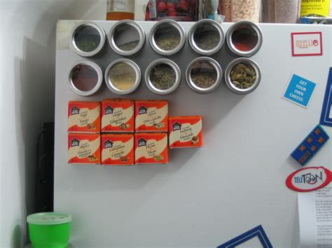 Magnetic Spice Rack For Refrigerator by Diy Magnetic Spice Rack For The Fridge Won T Snap