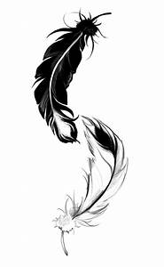 Ying Yang feather by LilyThula on DeviantArt