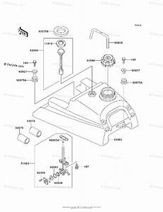 Kawasaki Atv 1995 Oem Parts Diagram For Fuel Tank