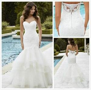 hot sale 2016 lace wedding dresses with backless mermaid With wedding dresses for sale near me