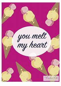 Cute Valentines Day card printable, print, pineapple, ice ...