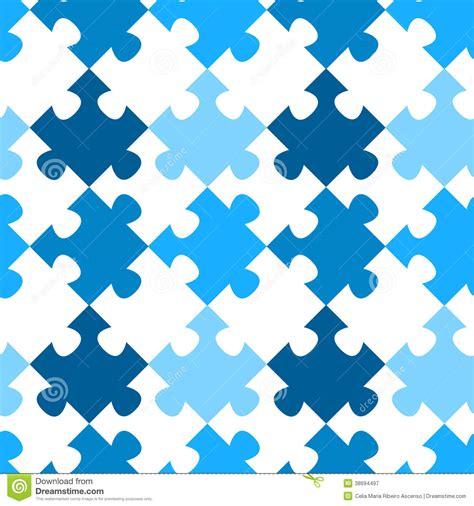 diagonal jigsaw puzzle seamless pattern stock illustration