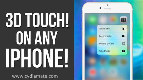 get 3d touch on any iphone with cydia tweaks cydia