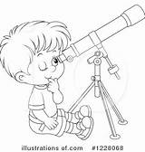Telescope Clipart Coloring Rf Illustration Royalty Bannykh Alex Getdrawings sketch template